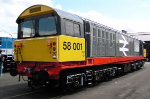 Railfreight 58001 Doncaster Works