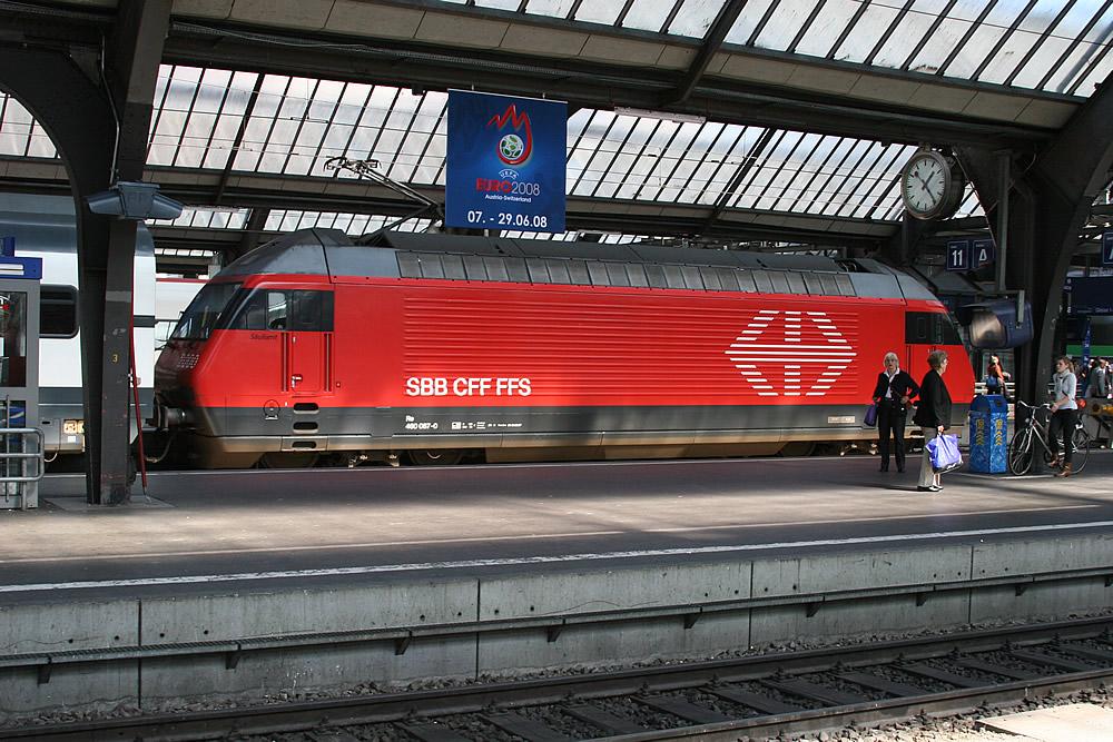 Re 460 SBB 460 087-0 Zurich Hbf 13.09.2007