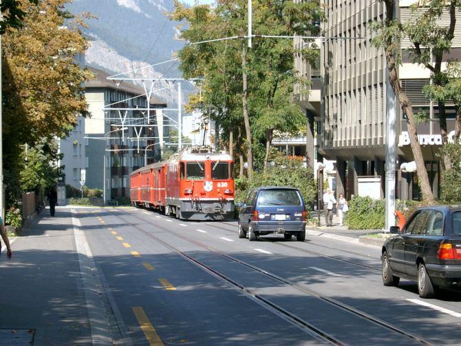Ge 4/4 II 630 Trun in Chur 16.09.2007